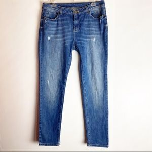 Michael Kors High Waisted Distressed Skinny Jeans